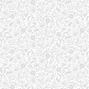 10337-08 WHISP FLOWERS LIGHT GREY