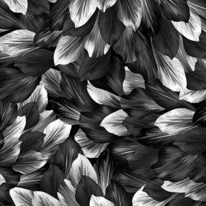 9884P-12 PETAL GARDEN CHARCOAL-BLACK