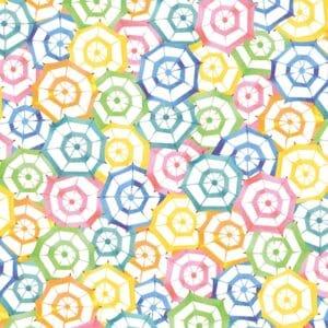 Strandparasoller i pastell