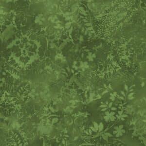 Bredt stoff; Vintage Damask - Green
